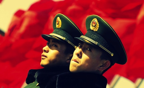 Tiananmen-Guards-Banner