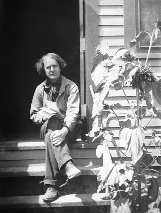 Portrait_of_Elbert_Hubbard_outside_his_workshop,_ca.1900_(CHS-4029)